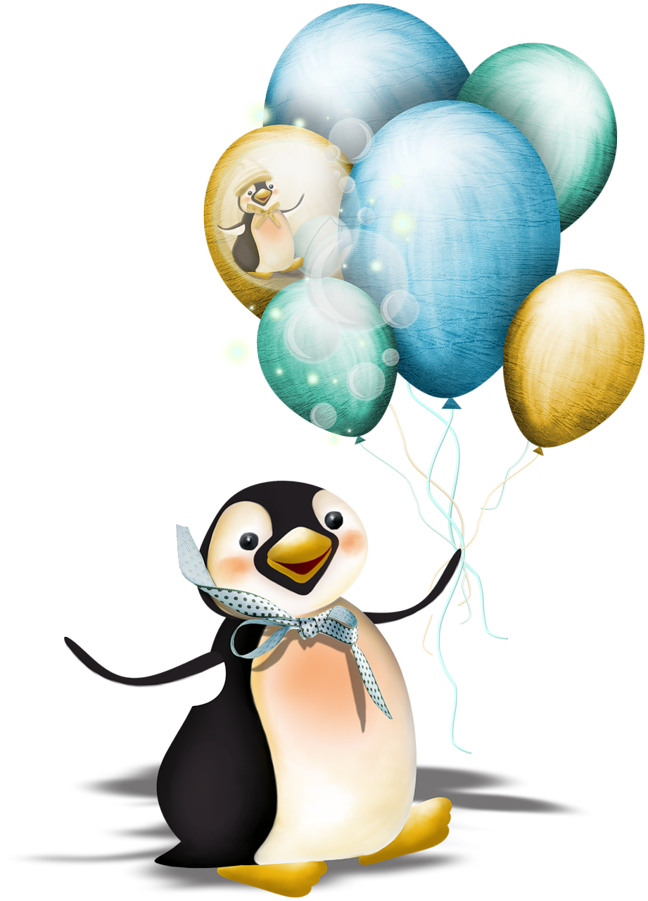Mis laminas para decoupage penguins clip art and penguin illustration penguin with balloons voltagebd Choice Image