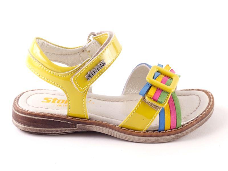Avril 2131 sandalen lak geel (maat 25-34)