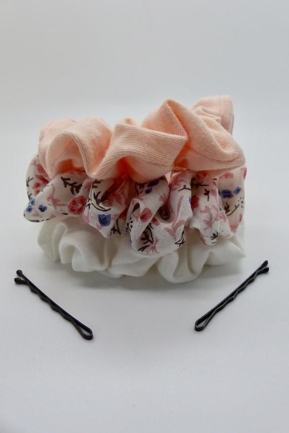 3 pack of scrunchies. Mixed pack of scrunchies. Hair elastics. Hair bands. Hair scrunchies. Floral s #hairscrunchie