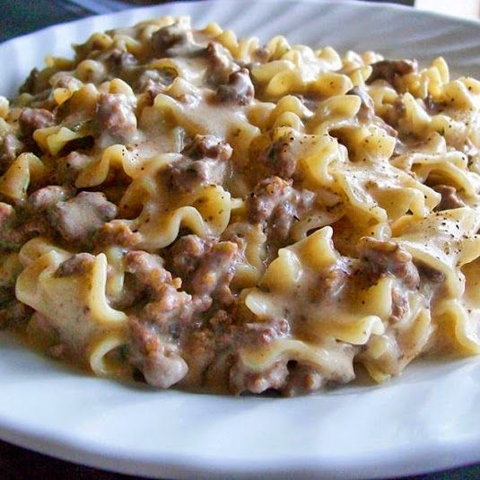 Ground Beef Stroganoff Recipe Recipe Ground Beef Stroganoff Recipes Beef Dinner