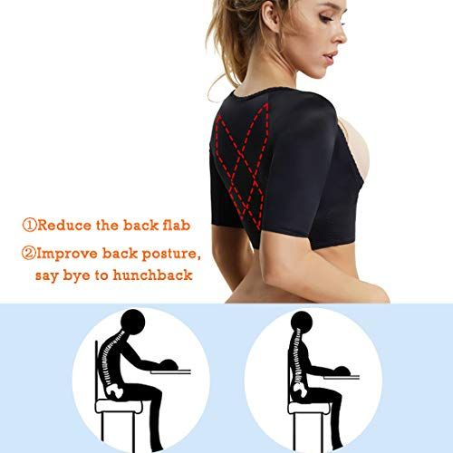 fe42b7805 Arm Shapers for Women Compression Sleeves Humpback Posture Corrector Tops Shapewear  Slimming Vest