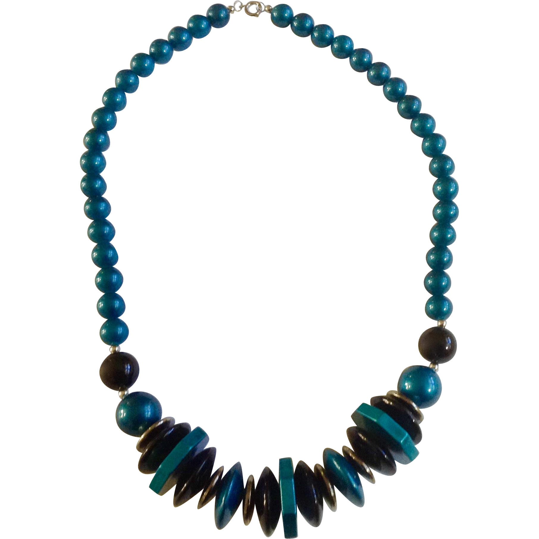 beaded image collar products blue bead necklace emoriejordon