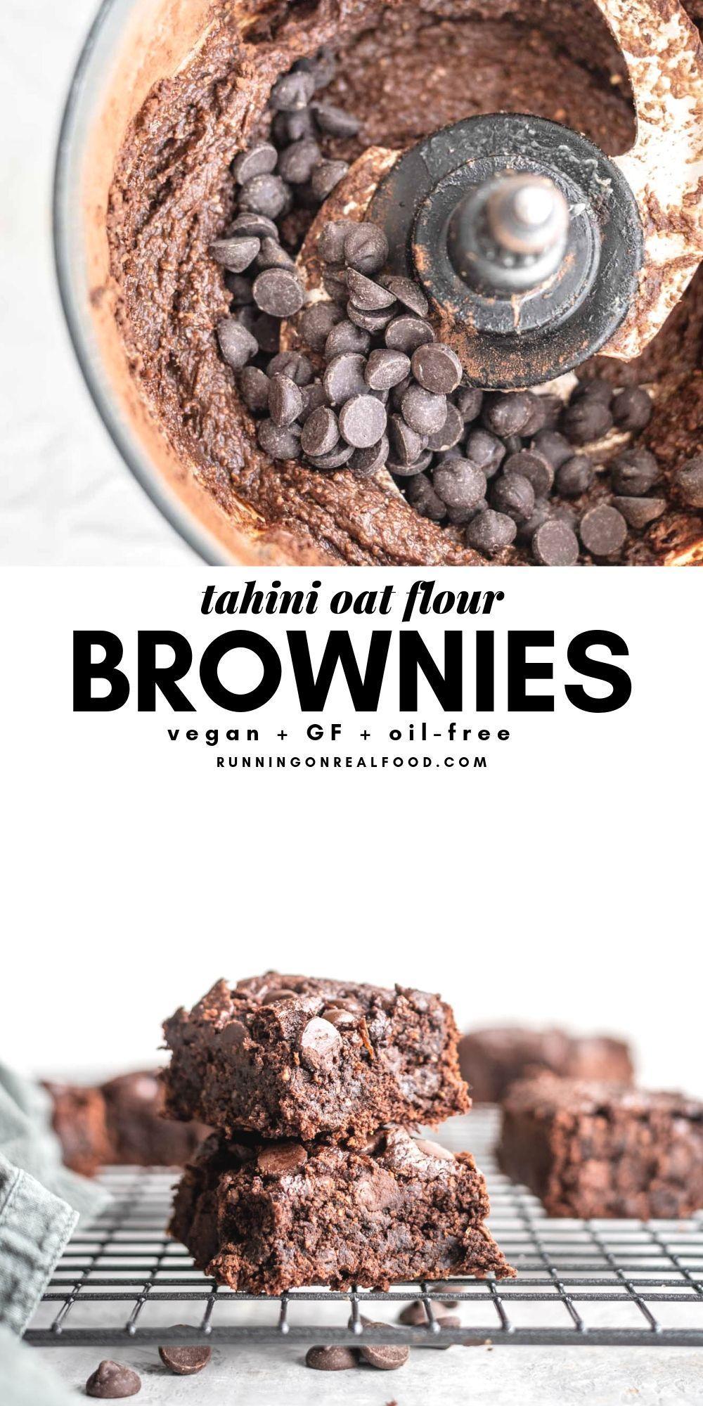 Vegan Oat Flour Brownies Recipe With Images Food Vegan Desserts Vegan Sweets
