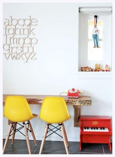 yellow chairs, bookhou abc