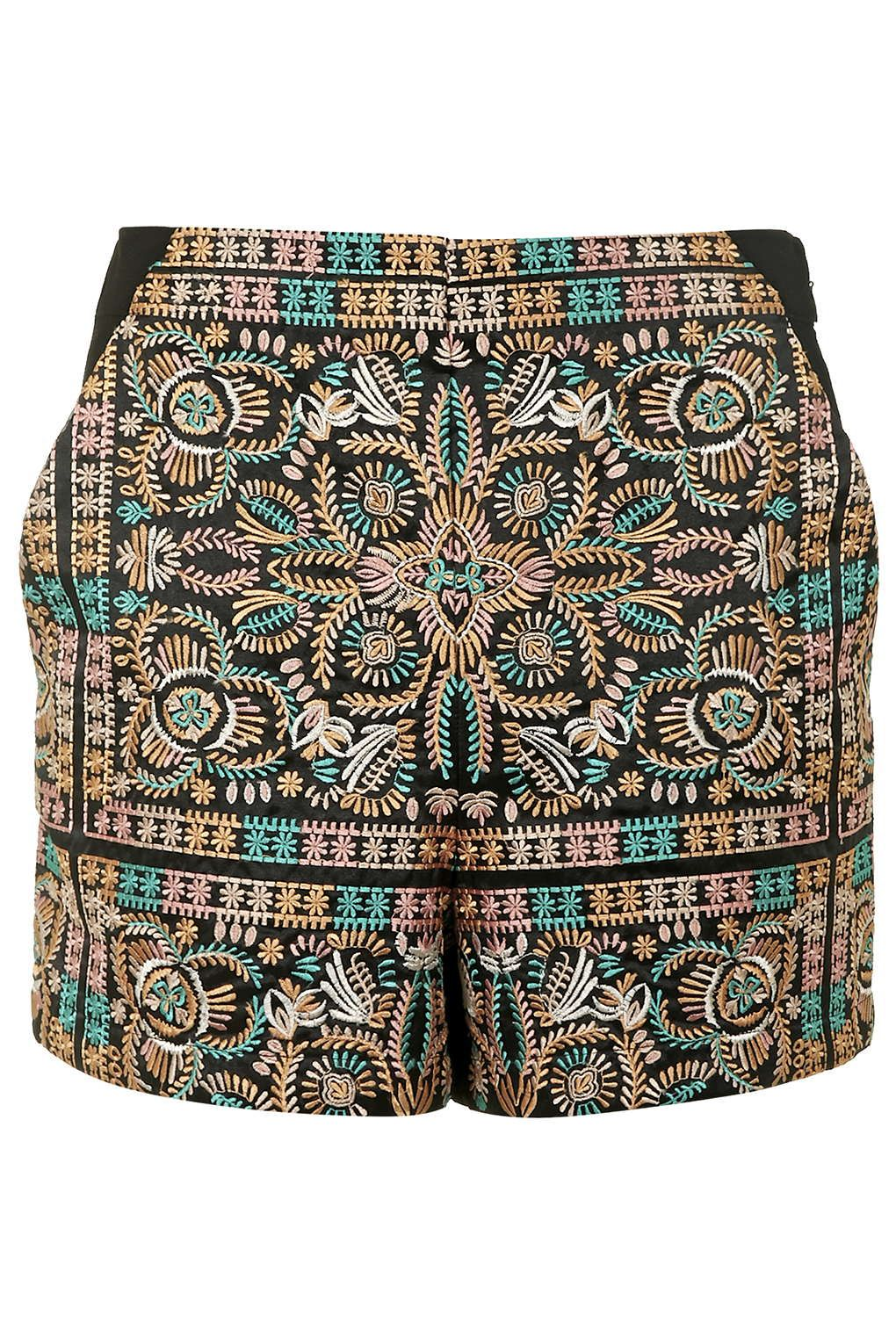 High-Waisted Embroidered Shorts - Shorts - Clothing | Summer of ...