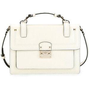 d63d4227c0 Valentino Cabana Top-Handle Medium Leather Lock Shoulder Bag, $2,595 ...