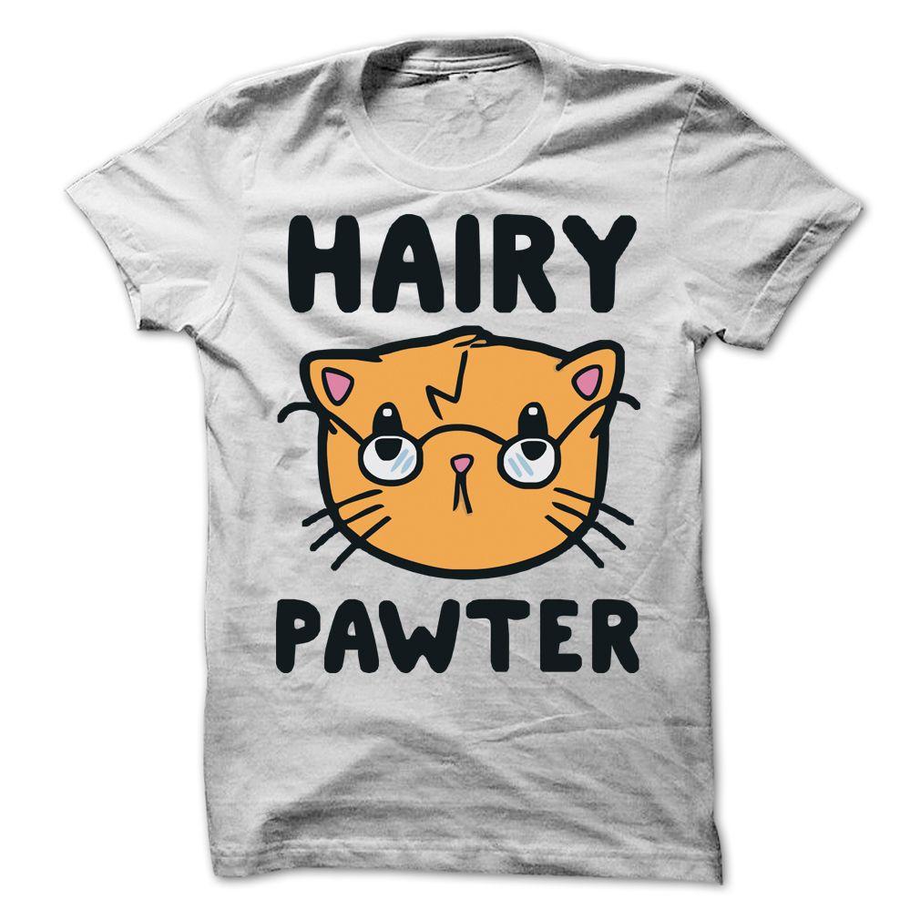 Hairy Pawter Cat T Shirt Funny shirt Pinterest