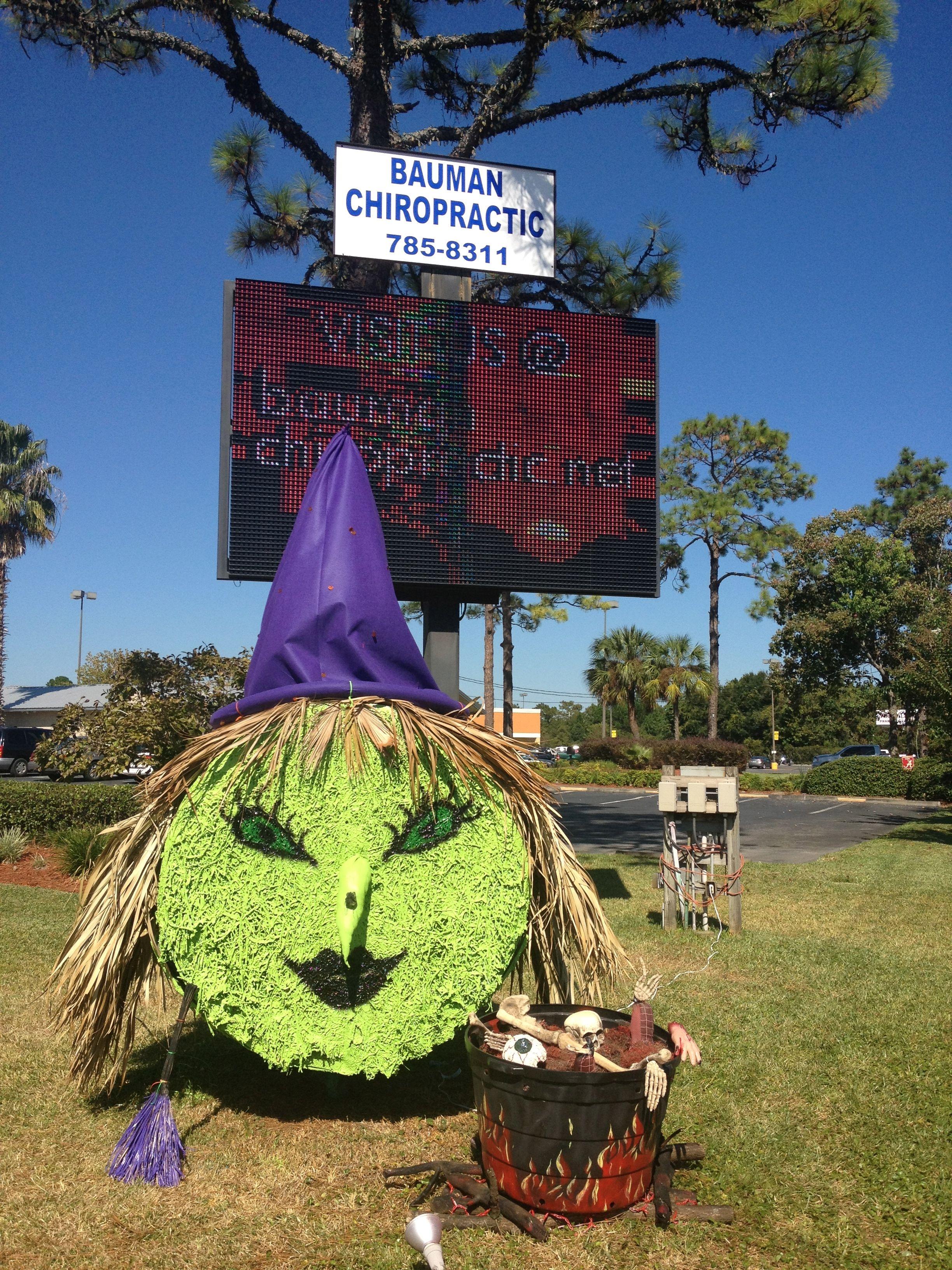 halloween witch hay bale bauman chiropractic panama city fl www