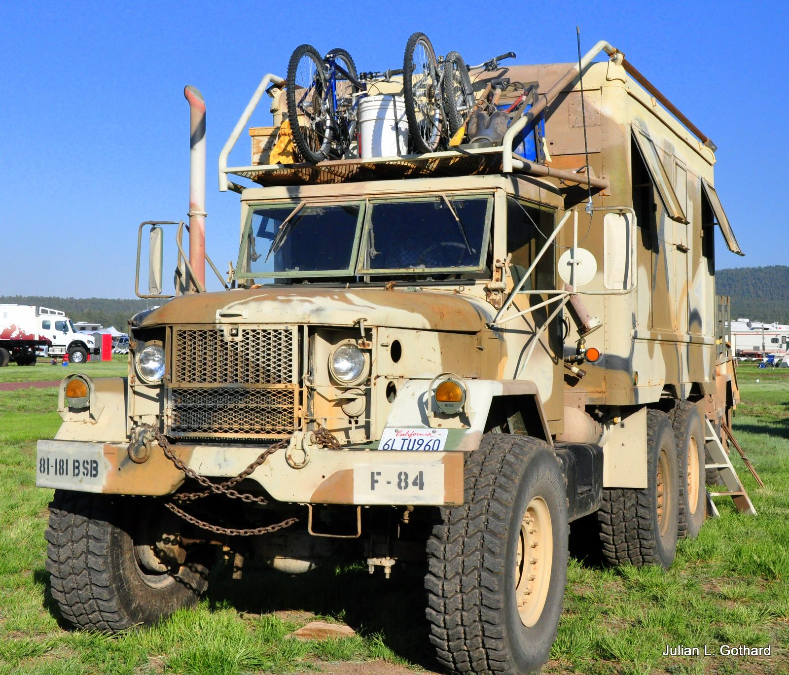 Military grade expedition vehicle at the 2012 overland expo