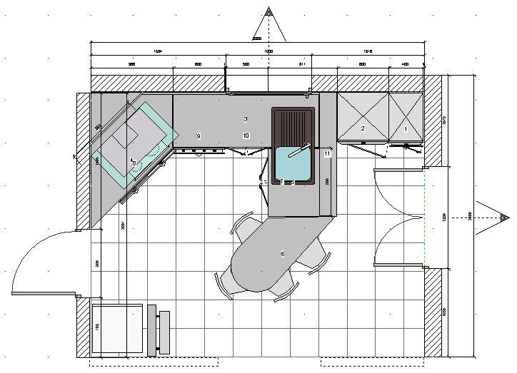 Plan cuisine 12m2 en 2019 | Plan cuisine, 12m2 et Cuisine fermée