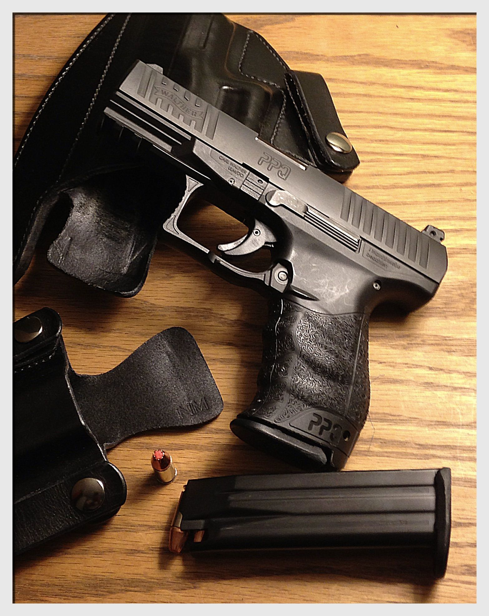 Walther PPQ 9mm  I LOVE this gun! It's part of my EDC and I don't