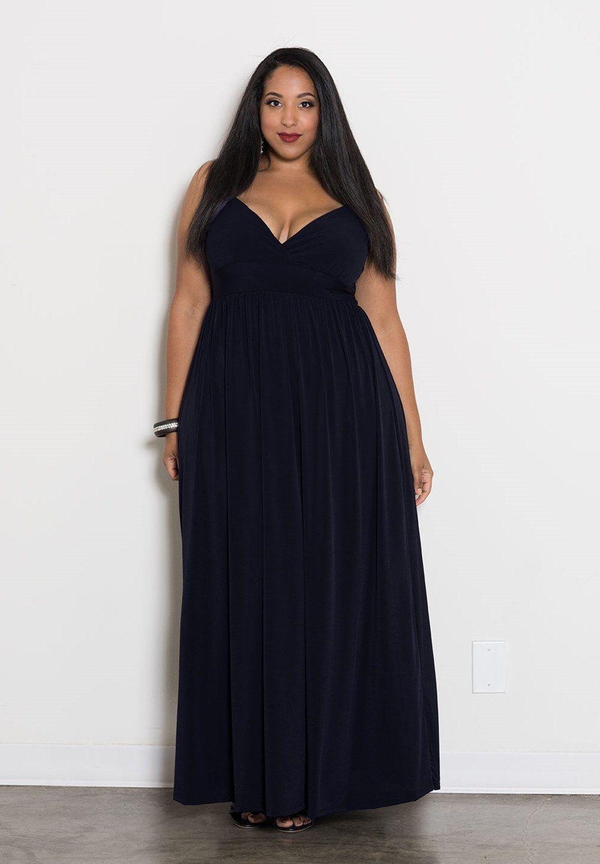 Bbw wedding dresses  Sabrina Maxi Dress  Navy  Mode  Pinterest  Plus size maxi Maxis