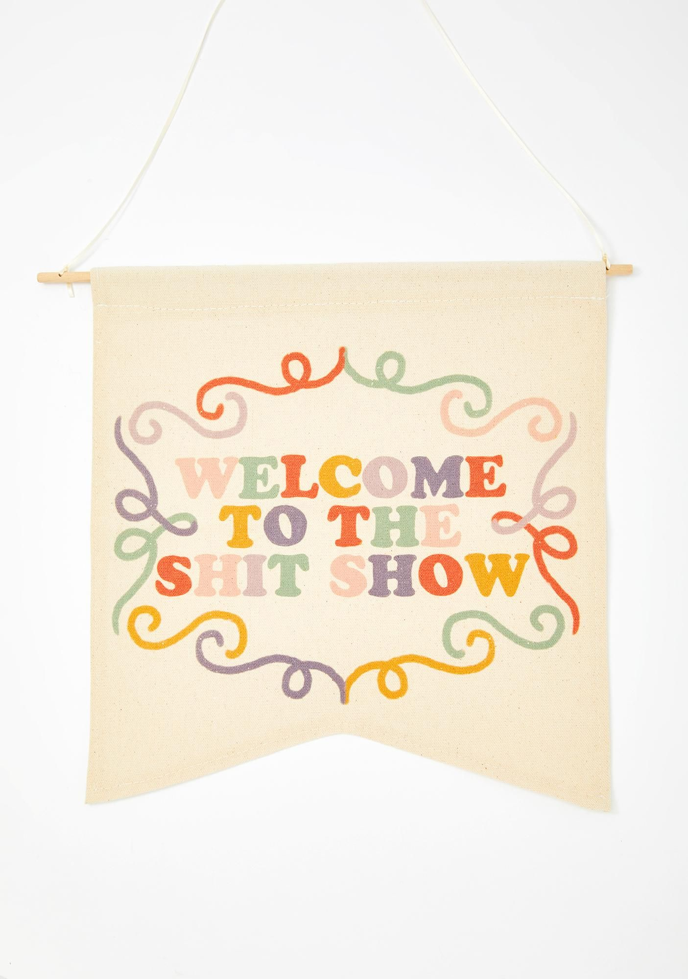 Femfetti Welcome To The Shit Show Wall Hanging Whi