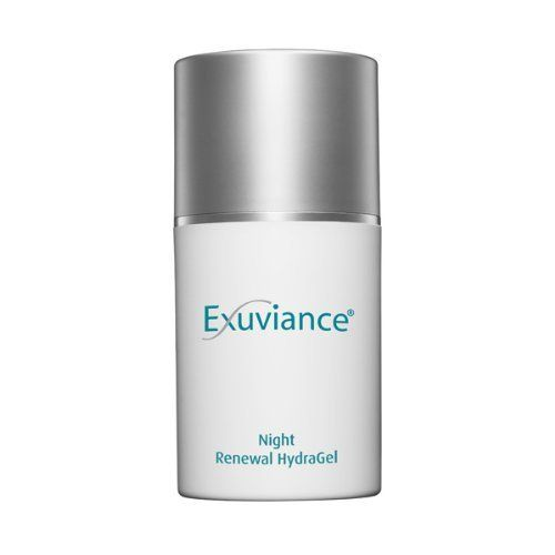 Exuviance Night Renewal Hydragel-1.75 oz by Exuviance. $39.99. A Night Renewal GelLooking for a skin product that repairs and rejuvenates your skin? Then your search ends with the Exuviance Night Renewal Hydragel. The hydragel is formulated to repair and hydrate your skin overnight. It also helps reduce pore size and repairs uneven skin, giving you beautiful, radiant skin.Hydrates oily skinSmoothens uneven skin toneRefines enlarged pores The Exuviance Night Renewal Hydr...