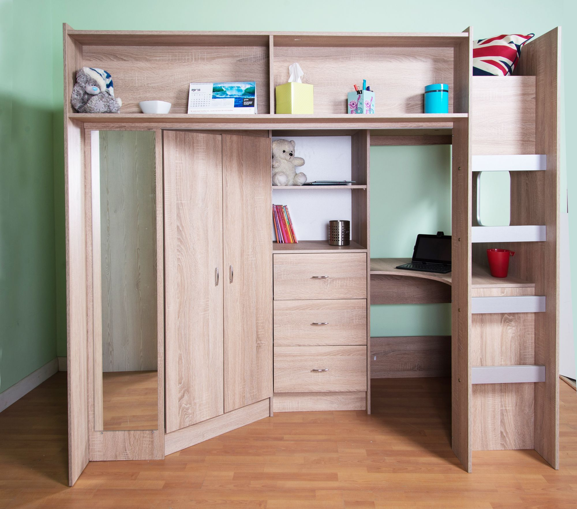 Cabin Beds For Small Rooms High Sleeper Cabin Bed Stamford Sonoma Oak M0860Fuloak  Ideeën