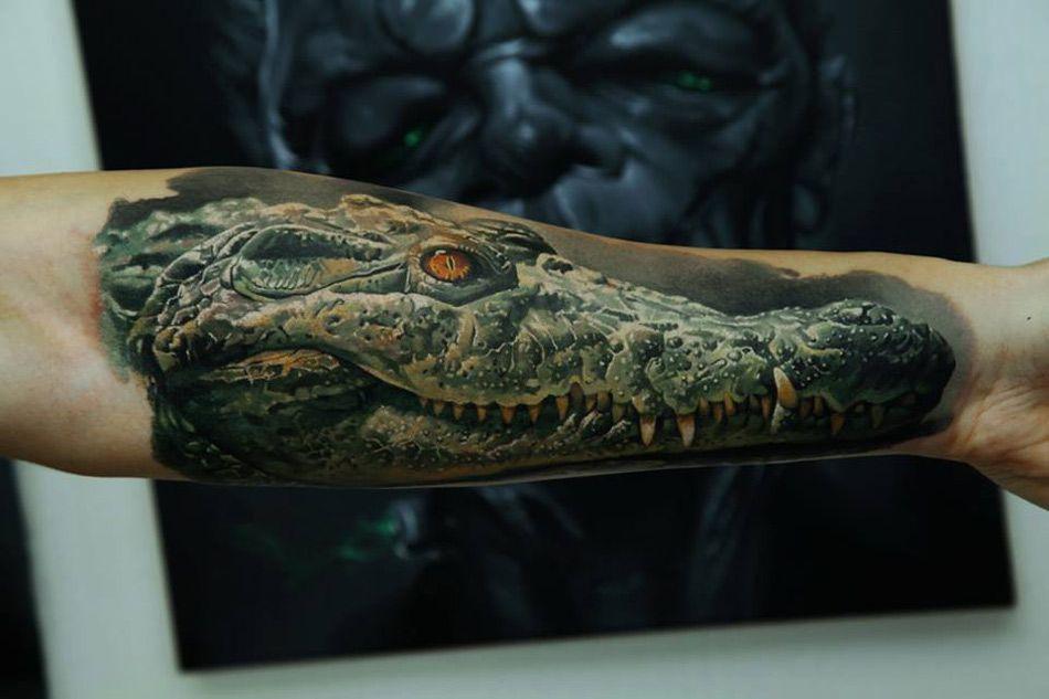 Realistic Crocodile Tattoo on Forearm | Tattoos | Pinterest ...