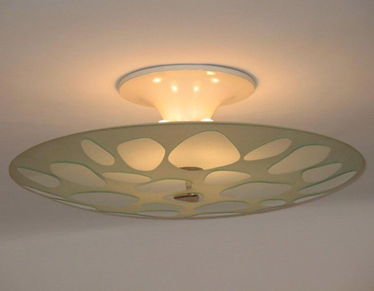 Fontana Arte Chandelier / Pendant - Max Ingrand Ceiling Lamp Milano ...