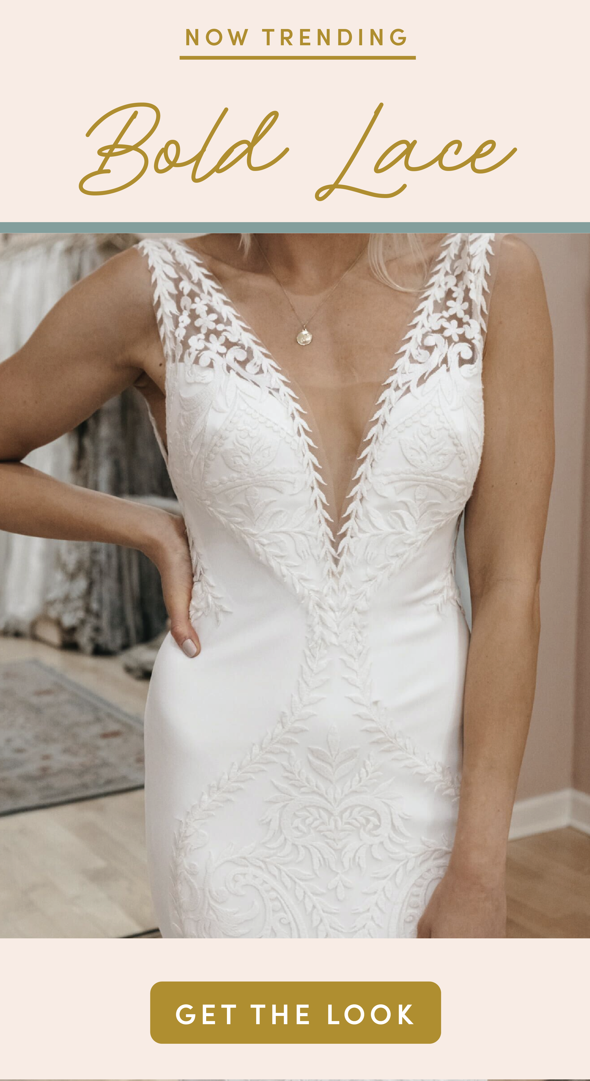 Bold, head-turning lace is one trend we're in love with – and it isn't going anywhere! Meet the 'Freja' from Lovers Society, with gorgeous all-over lace details. Click here to meet her and find her in-store! | lace wedding dress, bold lace wedding dress, unique wedding dress #weddingdress #lovelybride #bridetobe