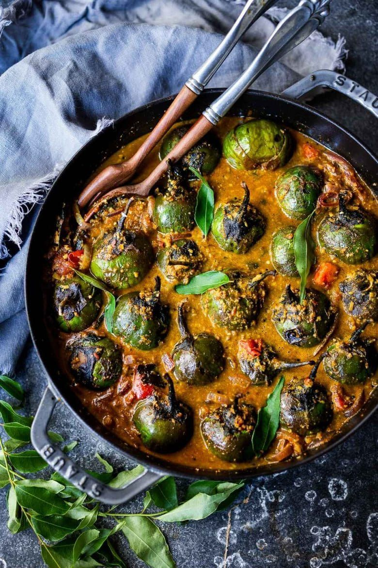 Brinjal Curry Indian Eggplant Recipe In 2020 Vegetarian Recipes Healthy Vegetarian Entrees Healthy Chicken Recipes