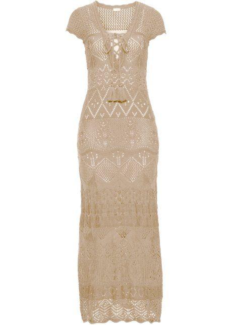 4a9152fd3 Bonprix maxi gebreide jurk, BODYFLIRT boutique ecru beige ...