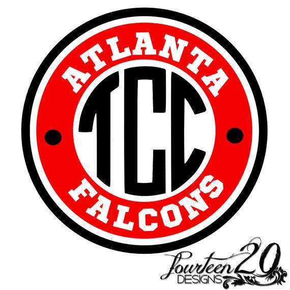 Atlanta Falcons Monogram Vinyl Decal Nfl By