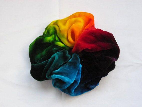 5cfa91494829 Rainbow Velvet Hair Piece Scrunchie | Scrunchies | Scrunchies ...