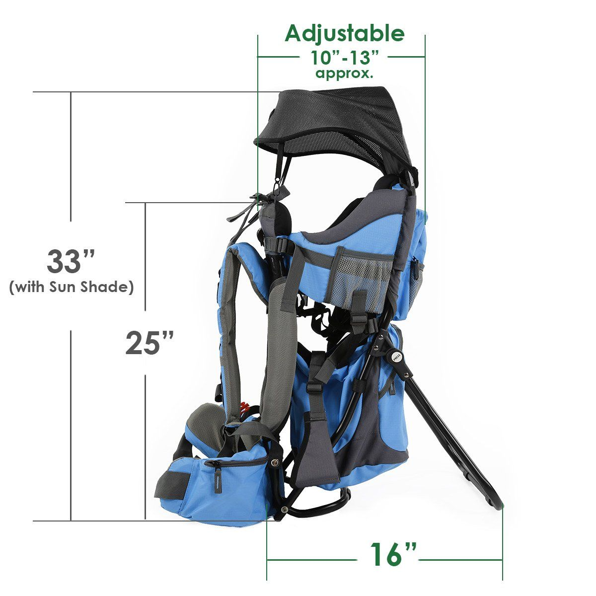 1aedea059a0e Clevr Cross Country Baby Backpack Hiking Carrier with Stand and Sun ...
