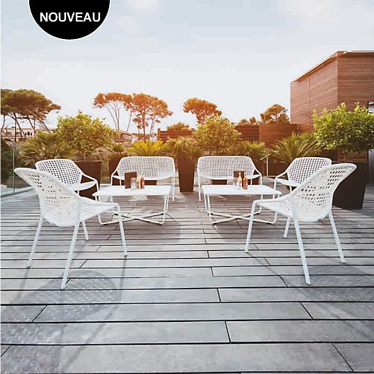 Banquette Croisette FERMOB | Camif | Outdoor furniture sets, Outdoor ...