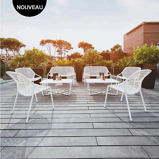 Banquette Croisette FERMOB Camif pas cher prix Salon de jardin ...