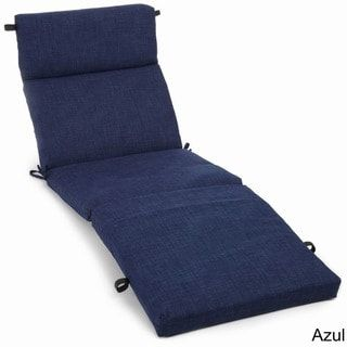 Blazing Needles 72 Inch All Weather Chaise Lounge Cushion Azul