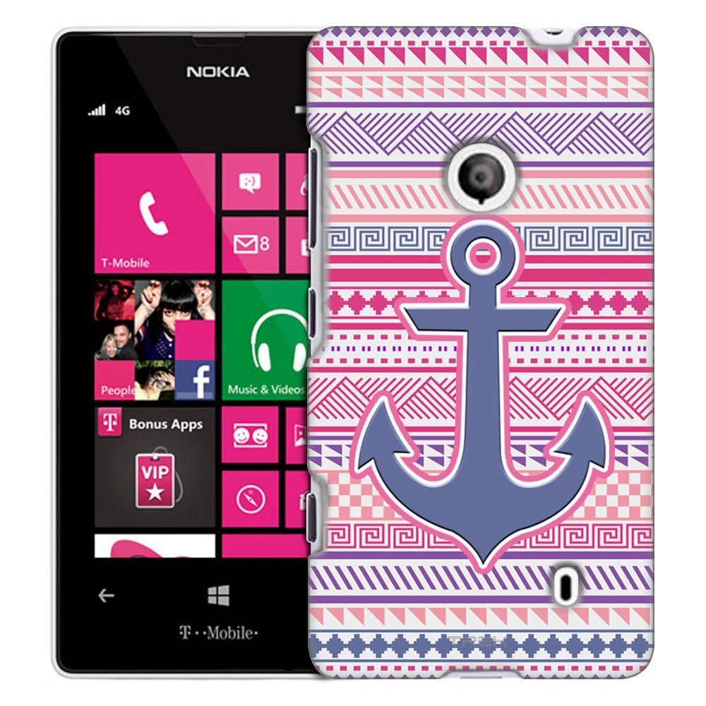 Nokia Lumia 521 Anchor on Aztec Andes Vintage Tribal Slim Case