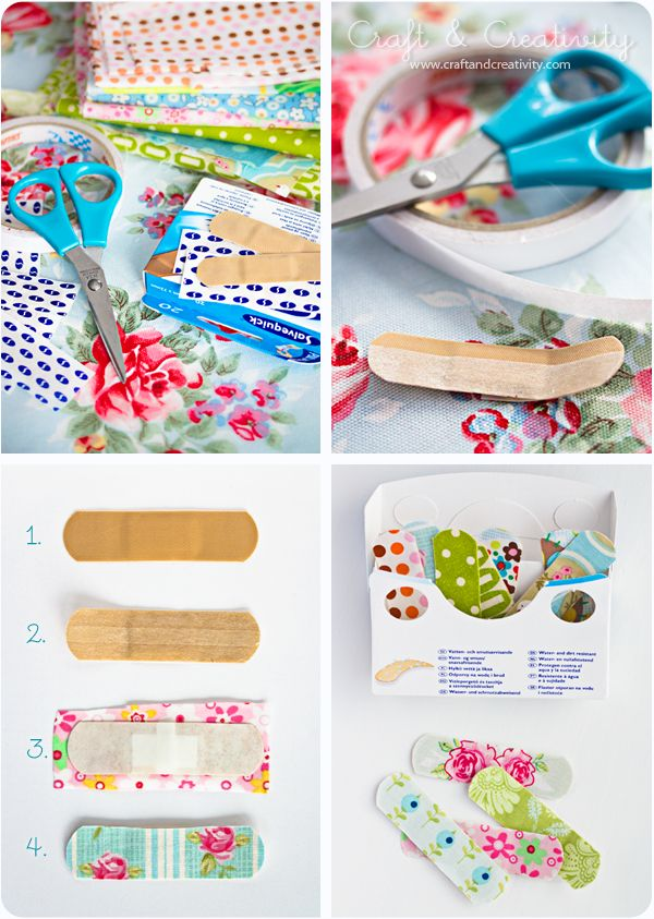 bandaids decorated with fabric