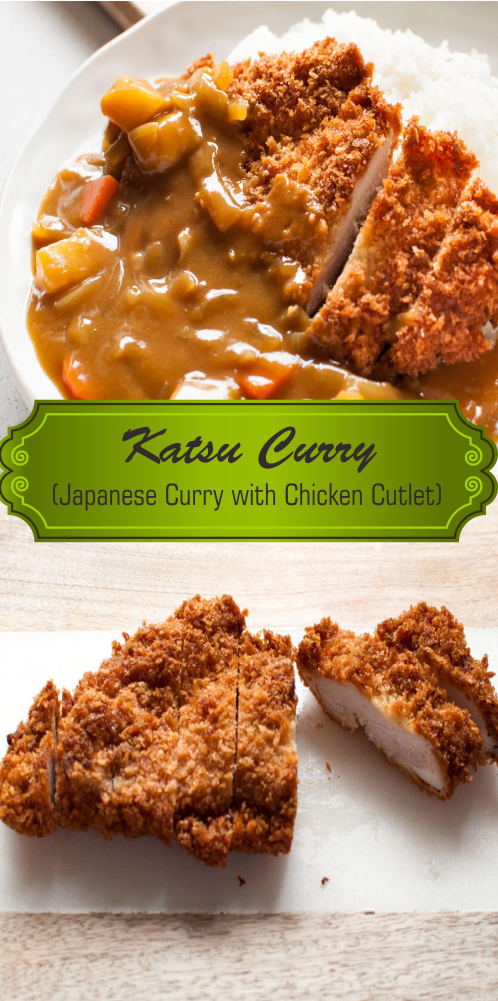 Katsu Curry Japanese Curry With Chicken Cutlet Chicken Katsu Recipes Curry Recipes Easy Chicken Cutlets