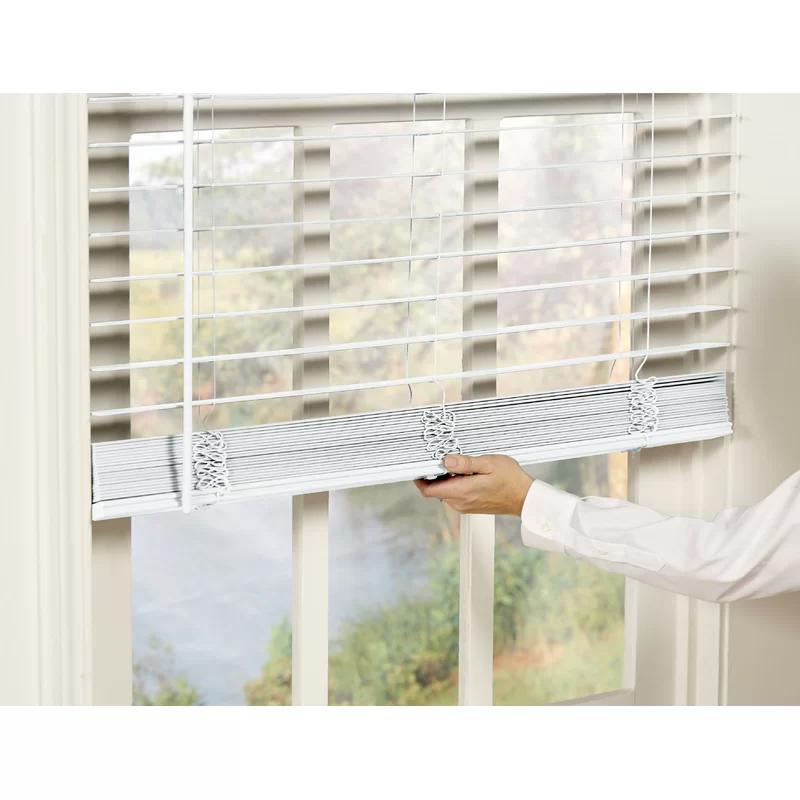 Dezario Room Darkening White Outdoor Vertical Blind Reviews Wayfair In 2020 Faux Wood Blinds Wood Blinds Living Room White Wood Blinds