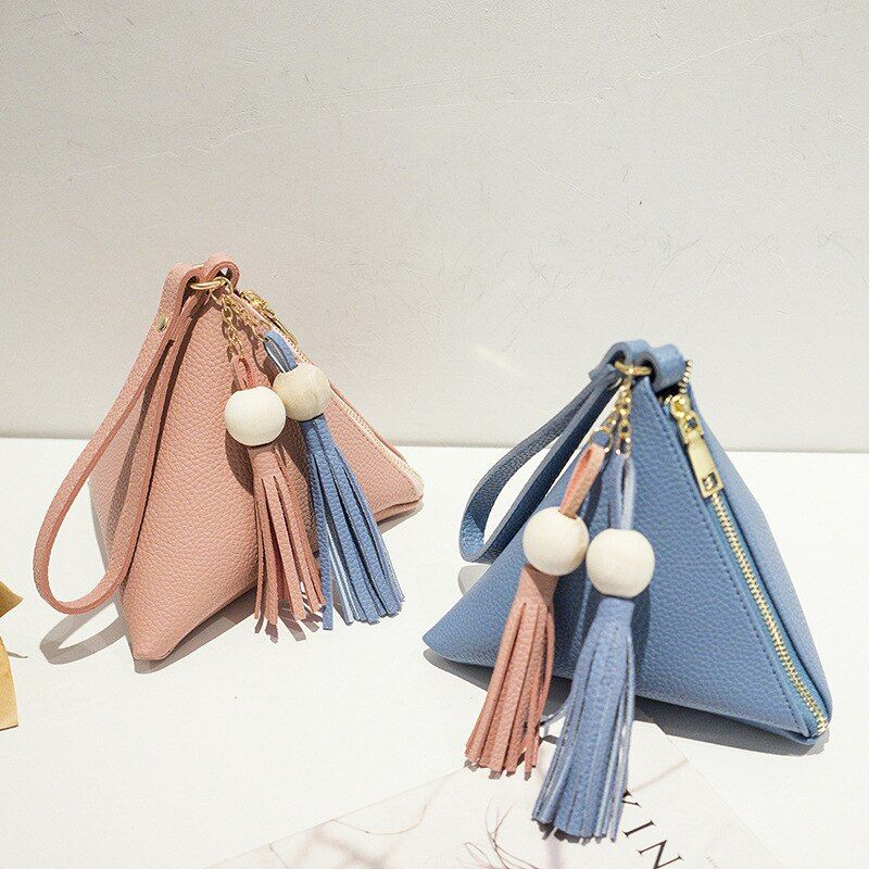 Photo of US $9.48 40% OFF|2020 New Tassel Women's Bag Fashion Women's Handbag Women's Leather Bag Mobile Wallet Lovely and Sweet Handbag Triangle Bag|Top-Handle Bags|   – AliExpress