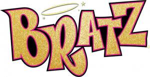 Bratz Gold Logo Computer Sticker Cartoon Logo Retro Aesthetic