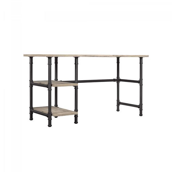 American Furniture Warehouse Online Shopping: Carver Desk With Storage Shelves, Sidney Oak *D By Classic