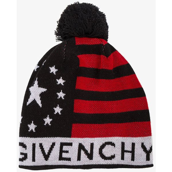 988c93155ce Givenchy Stars And Stripes Bobble Hat (1.145 BRL) ❤ liked on Polyvore  featuring men s. Mens Wool HatsMen s HatsBeanie ...