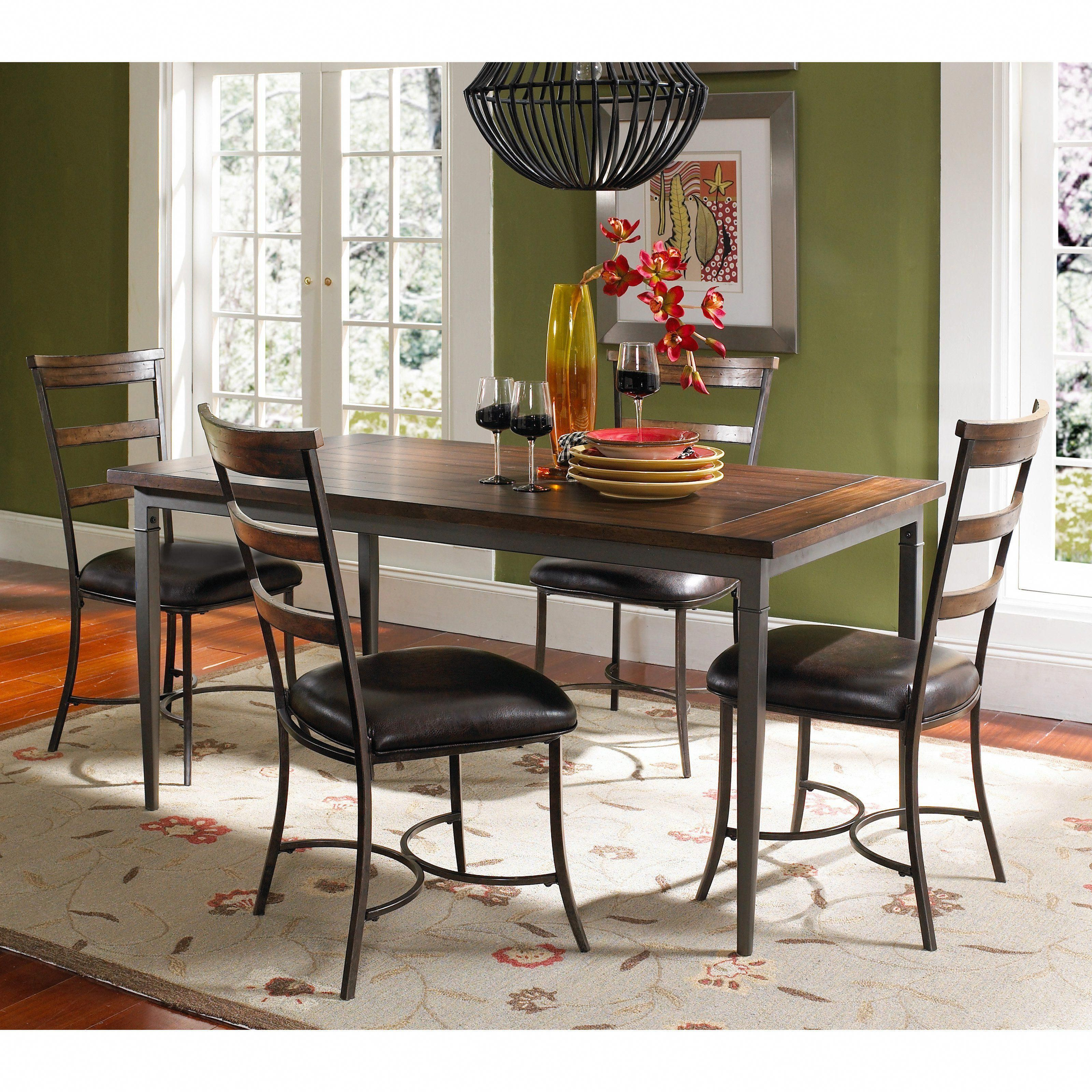 Hillsdale cameron piece counter height rectangle wood dining set
