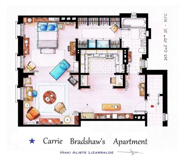 12 Floor plans of Apartment from Famous TV Shows | Home Design And ...