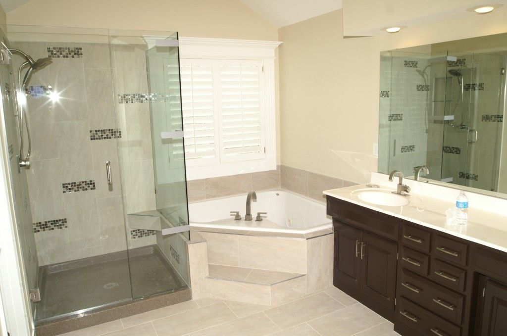 Bathroom Remodel. New shower, new counter tops, refacing cabinets ...