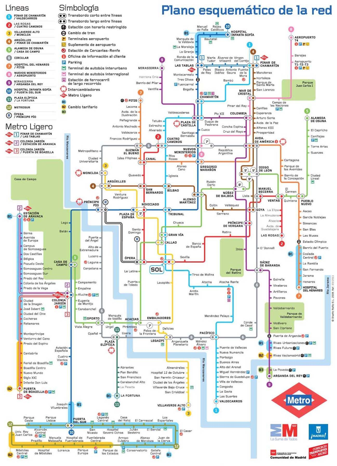 Plano de Metro de Madrid Metro madrid Pinterest Madrid