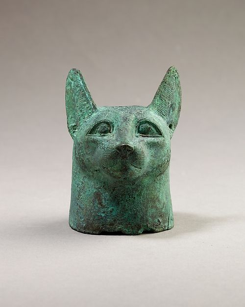 Head of a cat | Late Period–Ptolemaic Period 664–30 B.C.  | The Met