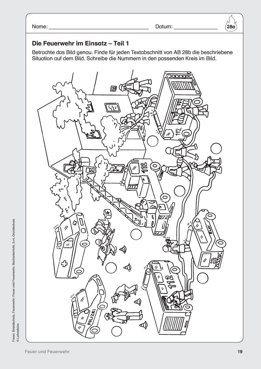 feuerwehr arbeitsbl tter lehrerb ro feuer feuerwehr kinder feuerwehr und brandschutz. Black Bedroom Furniture Sets. Home Design Ideas