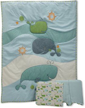 Amazon.com: MiGi 3 Piece Crib Set, Little Whales: Baby