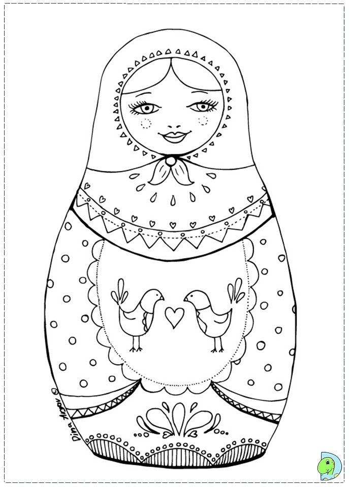 babushka coloring pages - photo#10