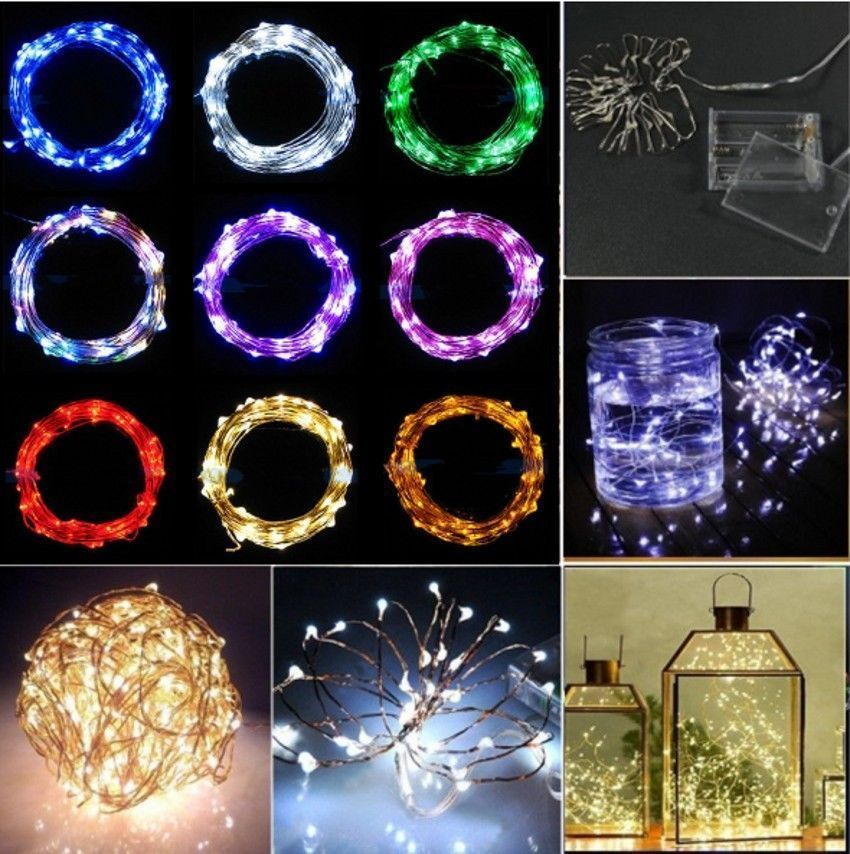 $239 - 2/3/4M 20/30/40Leds Battery Operated Mini Led Copper Wire