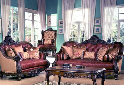 Antique Style Luxury Sofa Love Seat Formal Living Room Furniture Set Hd 3311