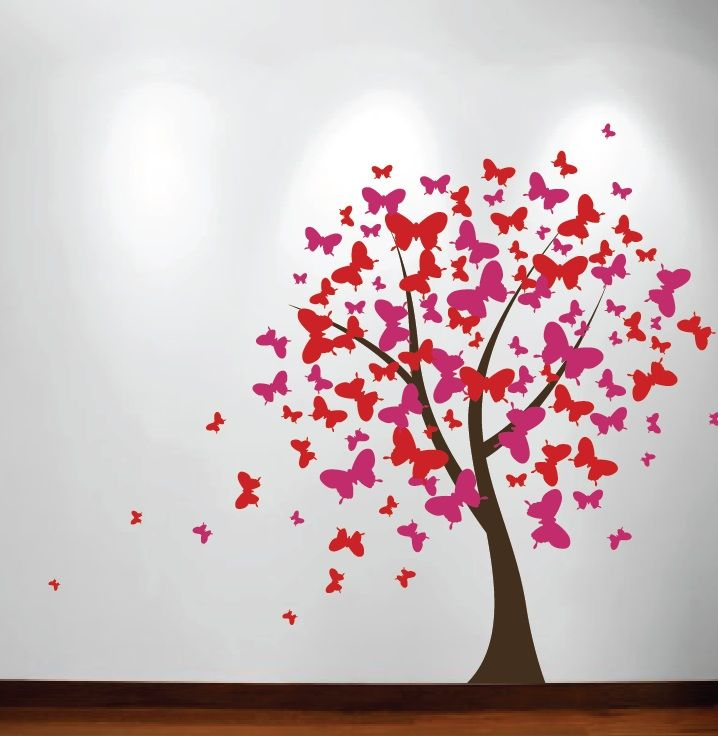 Butterfly Stencil | Butterfly Tree Nursery Wall Decal #1140    InnovativeStencils Part 56