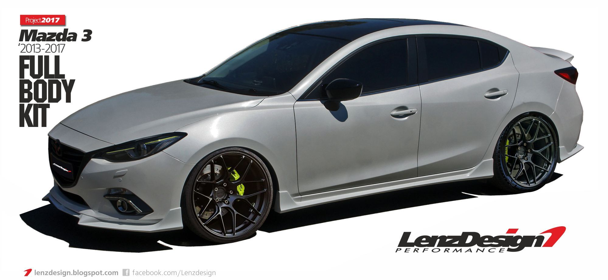 Mazda 3 bm axela 2013 2014 2015 2016 2017 tuning body kit lenzdesign performance